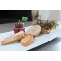 Foie gras entier présenté par le chef Morel