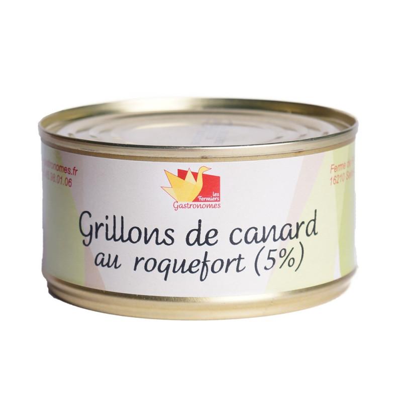 Grillons de canard au Roquefort